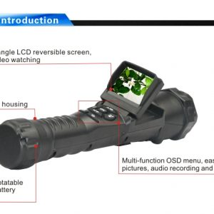 One of our security technology products is the flashlight camcorder.